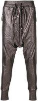 Unconditional foiled drop-crotch trousers - men - Cotton - M