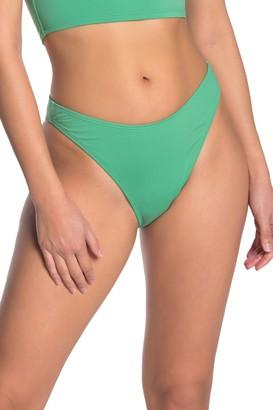 Bikini Lab Solid High Cut Bikini Bottoms