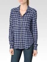 Paige Mya Shirt - Dark Ink Blue/White Connolly Plaid