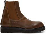 Rick Owens Brown Creeper Elastic Boots