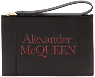 Alexander McQueen Leather Signature Pouch Bag