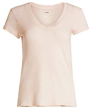 L'Agence Women's Becca V-Neck Cotton Tee
