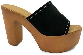Bamboo Women's Sandals BLACK - Black Platform Woodland Sandal - Women
