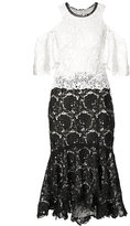 Monique Lhuillier cold shoulder lace dress - women - Silk - 14