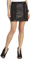 BCBGMAXAZRIA Roxy Quilted Miniskirt