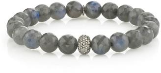 Sheryl Lowe Labradorite Bracelet With Pave Diamond Donut