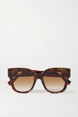 Fendi D-frame Tortoiseshell Acetate And Gold-tone Sunglasses
