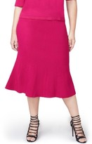 Rachel Roy Plus Size Women's Pebble Jacquard Fit & Flare Skirt