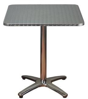 DHC Furniture Square Aluminum Dining Table Furniture