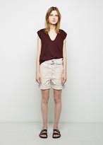 Isabel Marant Verna Patch Linen Shorts