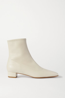 BY FAR Este Leather Ankle Boots - Off-white