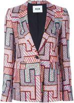 MSGM geometric print blazer - women - Silk/Polyester - 40