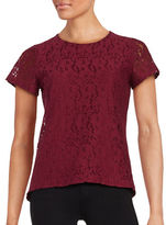 Tommy Hilfiger Floral Lace Short Sleeved Top
