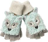 Fat Face Children's Arctic Fox Gloves, Aqua