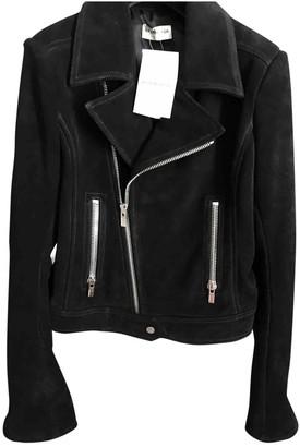 Balenciaga Black Suede Leather jackets