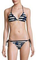Proenza Schouler Two-Piece Triangle Lapis Bikini