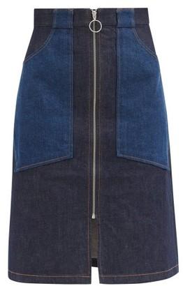 A.P.C. Joe Patch-pocket Denim Skirt - Dark Denim