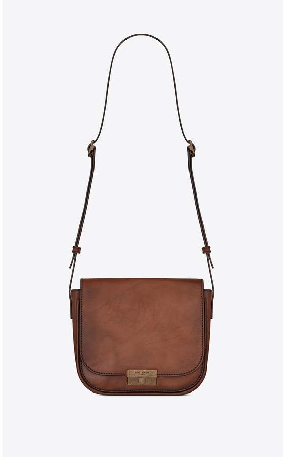 Saint Laurent Betty Satchel In Smooth And Braided Leather