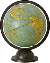 Rejuvenation 9 Inch Terrestrial Globe on Iron Stand c1940s