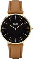 Cluse CL18404 La Bohème gold, stainless steel and leather watch