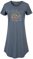 Instant Message Women's Women's Tee Shirt Dresses HEATHER - Heather Blue Dandelion Hedgehog Short-Sleeve Dress - Women & Plus