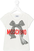 Moschino Kids - ribbon print T-shirt - kids - Cotton/Elastodiene - 4 yrs