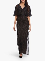 Adrianna Papell Beaded Flutter Gown, Black/Multi
