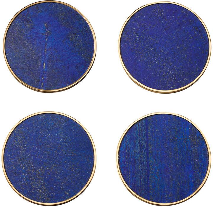 AERIN Lucas Coaster - Set of 4 - Lapis