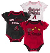 MLB Arizona Diamondbacks Girls 3pk Bodysuit Crawlers