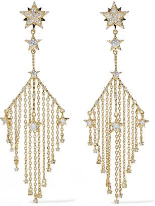 Noir Gold-tone Crystal Earrings