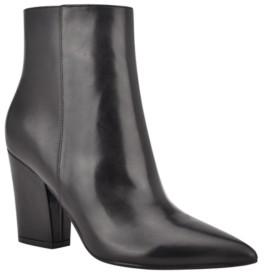 Nine West Women's Gaba Block Heeled Booties Women's Shoes