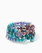 Charming charlie Stardusted Beaded Wrap Bracelet