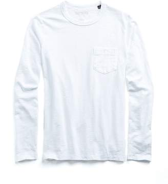 Todd Snyder Made in L.A. Slub Jersey Long Sleeve T-Shirt in White