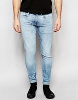 Pepe Jeans Finsbury Stretch Skinny Fit Indigo Legend Bleach Attack