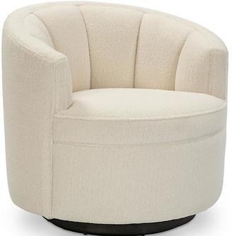 Kim Salmela Jackie Swivel Club Chair - Cream