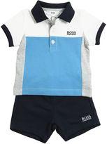 HUGO BOSS Cotton Piqué Polo & Cotton Shorts