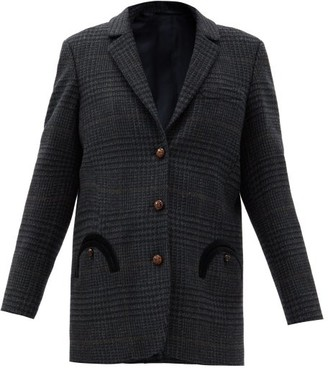 BLAZÉ MILANO Jack In The Box Wool Single-breasted Blazer - Grey