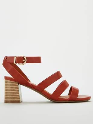 Wallis Strappy Block Heel Sandals - Tan
