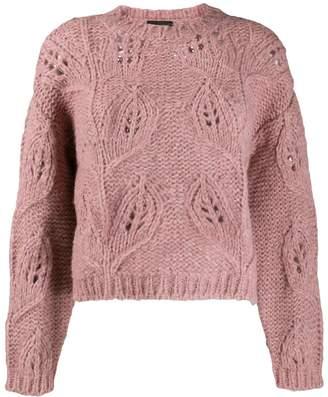 Roberto Collina open knit detail jumper