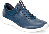 Ecco True Navy & Poseidon Soft 5 Leather Sneaker - Women