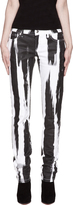 McQ by Alexander McQueen Black & White Lacquered Skinny Jean