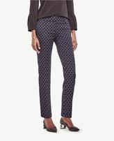 Ann Taylor Devin Circle Jacquard Everyday Ankle Pants
