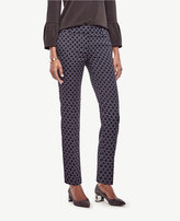 Ann Taylor Tall Devin Circle Jacquard Everyday Ankle Pants