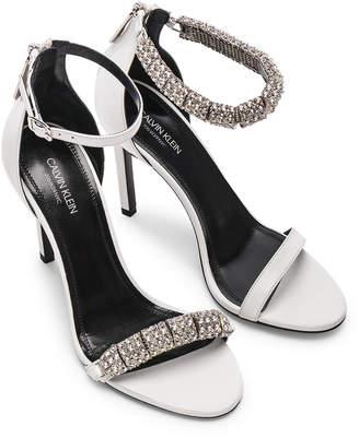 Calvin Klein Camelle Heels in White | FWRD