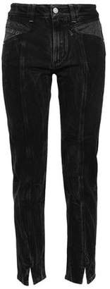 Givenchy Canvas-paneled High-rise Slim-leg Jeans