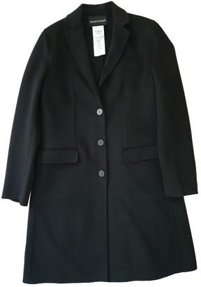 Emporio Armani Black Cashmere Coat for Women