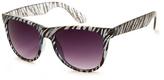 A. J. Morgan Blue Zebra Animal Envy Sunglasses