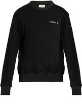EVEREST ISLES Coast-embroidered cotton sweatshirt