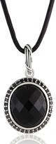 Peter Thomas Roth Sterling Onyx Halo Pendant w/Leather Cord