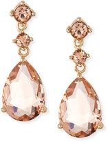 Fragments Crystal Teardrop Dangle Earrings, Light Peach